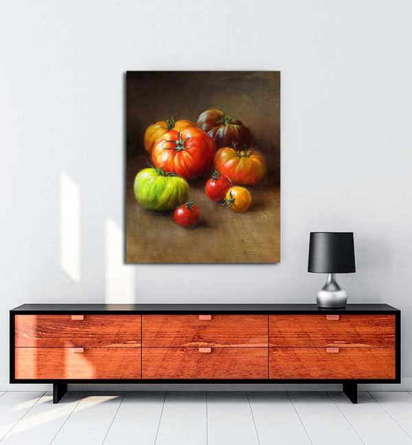 Natürmort - Domatesler kanvas tablo