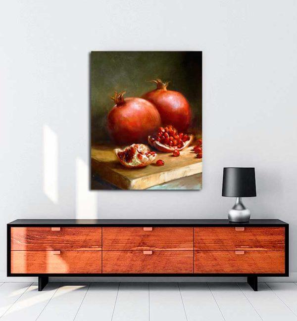 Natürmort - Narlar kanvas tablo