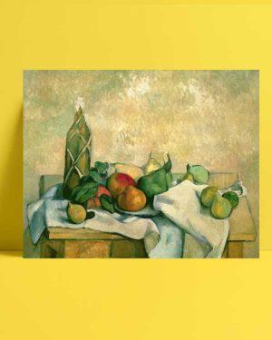 Natürmort - Şişe ve Meyveler afişi