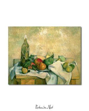 Natürmort - Şişe ve Meyveler posteri