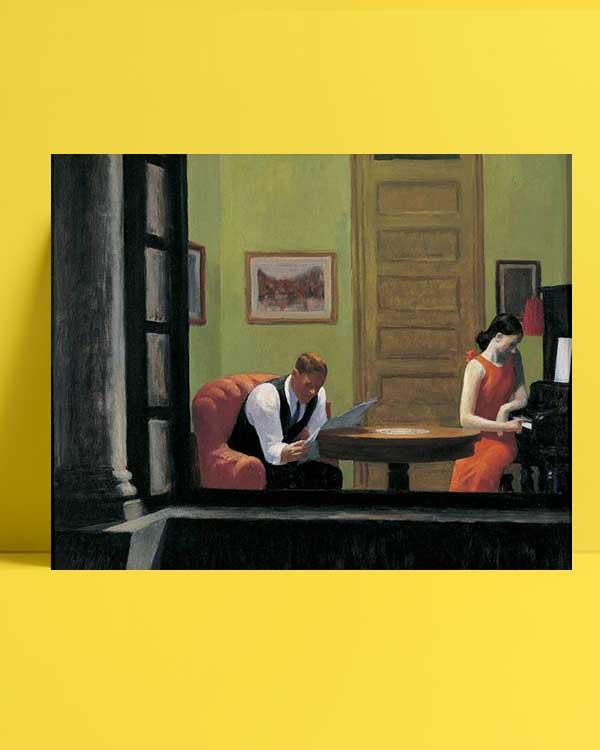 Edward Hopper - New York'ta Oda afişi