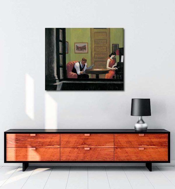 Edward Hopper - New York'ta Oda kanvas tablo