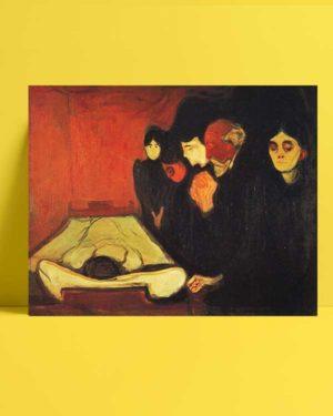 Edvard Munch - ölüm döşeğinde afişi