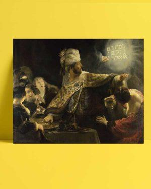 Rembrandt Van Rijn - Belshazzar'ın Ziyafeti afişi