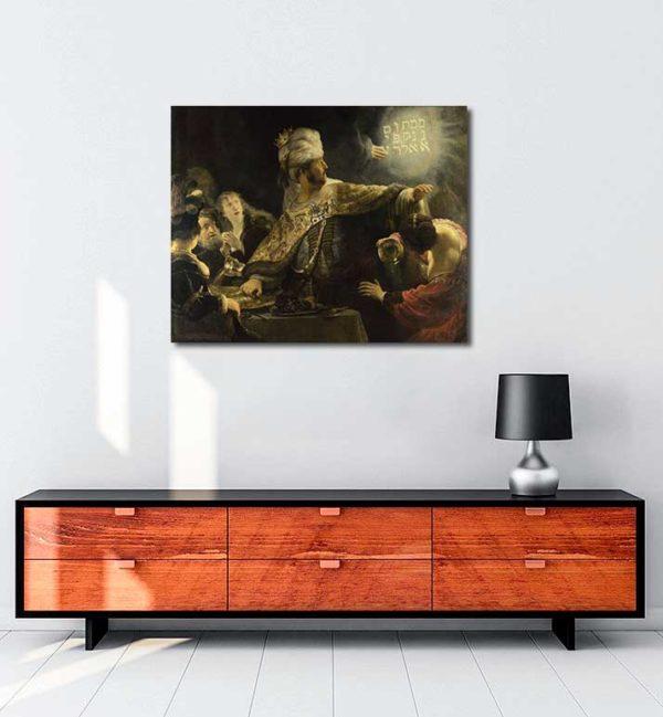 Rembrandt Van Rijn - Belshazzar'ın Ziyafeti kanvas tablo