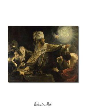 Rembrandt Van Rijn - Belshazzar'ın Ziyafeti posteri