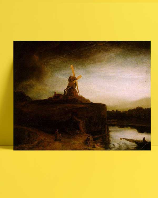 Rembrandt Van Rijn - Değirmen afişi