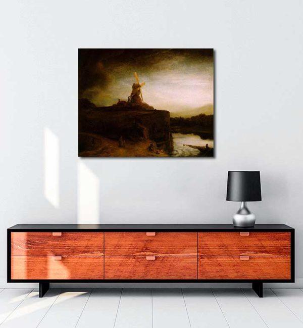 Rembrandt Van Rijn - Değirmen kanvas tablo