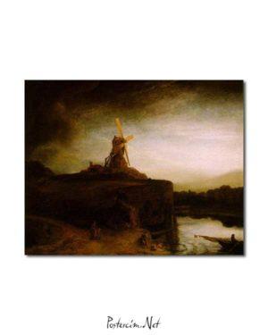 Rembrandt Van Rijn - Değirmen posteri