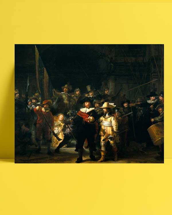 Rembrandt Van Rijn - Gece Devriyesi afişi