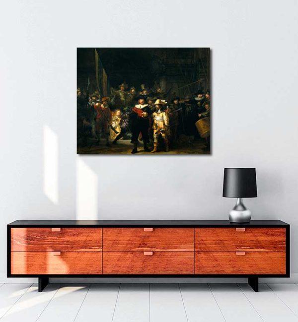 Rembrandt Van Rijn - Gece Devriyesi kanvas tablo