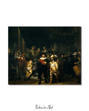 Rembrandt Van Rijn - Gece Devriyesi posteri
