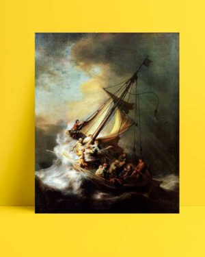 Rembrandt Van Rijn - İsa Galilee Gölünde afişi