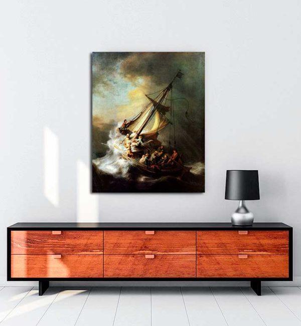 Rembrandt Van Rijn - İsa Galilee Gölünde kanvas tablo