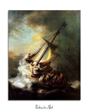 Rembrandt Van Rijn - İsa Galilee Gölünde posteri