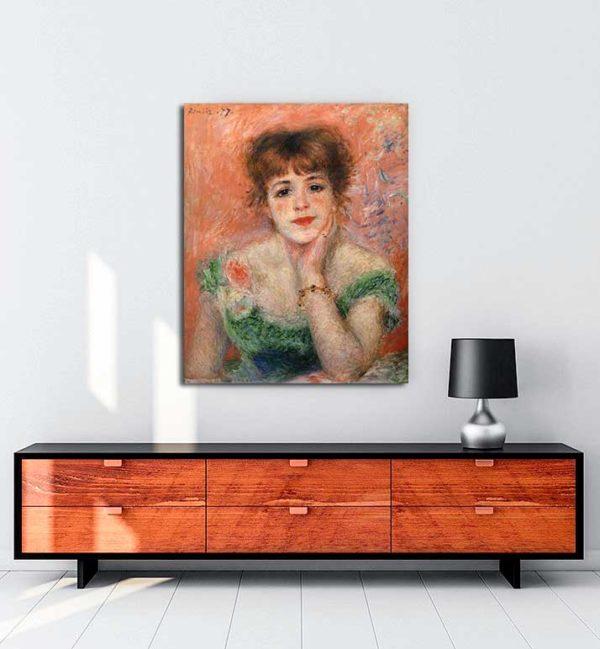 Pierre Auguste Renoir - Jeanne Samary kanvas tablo