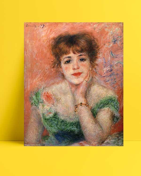 Pierre Auguste Renoir - Jeanne Samary afişi