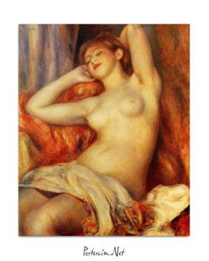 Pierre Auguste Renoir - Uyuyan Kadın posteri