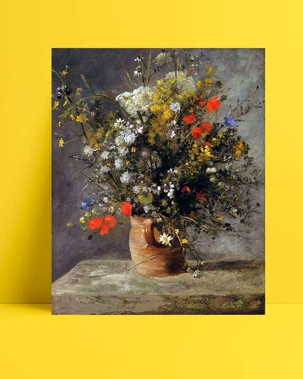 Pierre Auguste Renoir - Vazodaki Çiçekler afişi