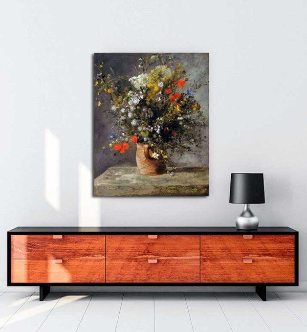 Pierre Auguste Renoir - Vazodaki Çiçekler kanvas tablo