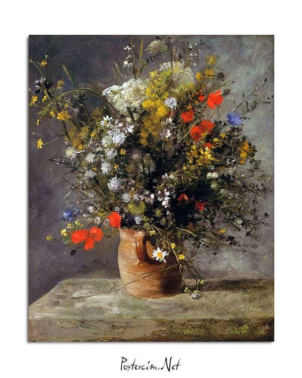 Pierre Auguste Renoir - Vazodaki Çiçekler posteri