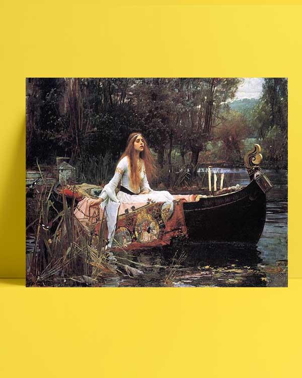 John William Waterhouse - Shalott Leydisi afişi