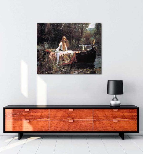 John William Waterhouse - Shalott Leydisi kanvas tablo