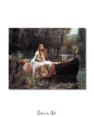 John William Waterhouse - Shalott Leydisi posteri