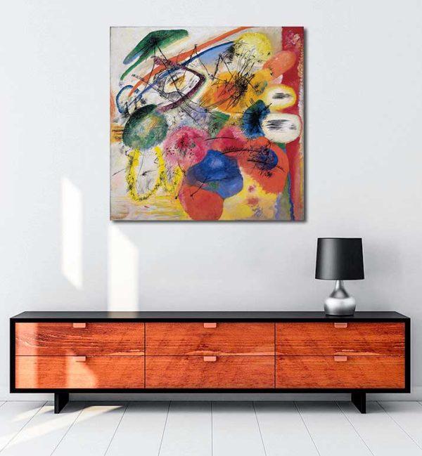 Vasiliy Kandinsky - Siyah Çizgiler kanvas tablo