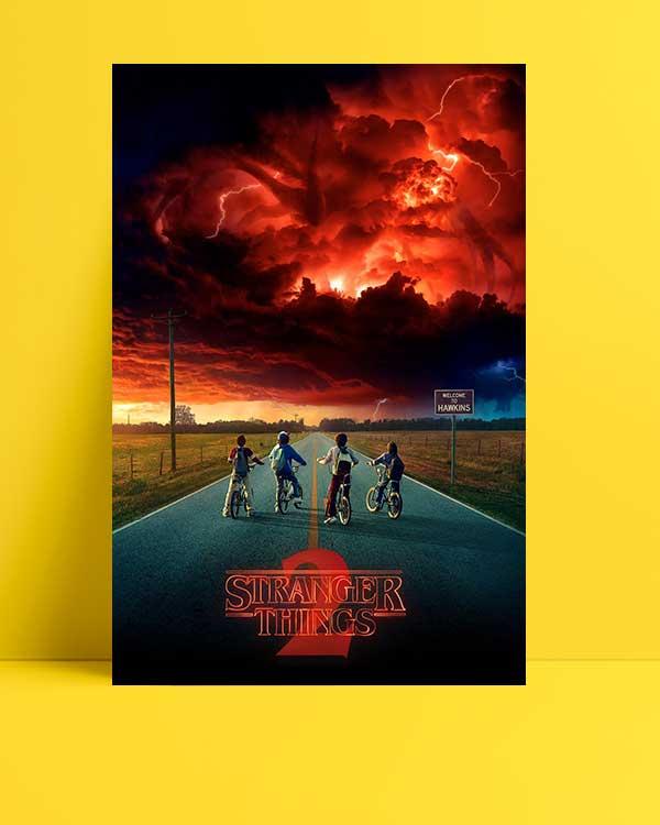 Stranger Things - 2 afişi