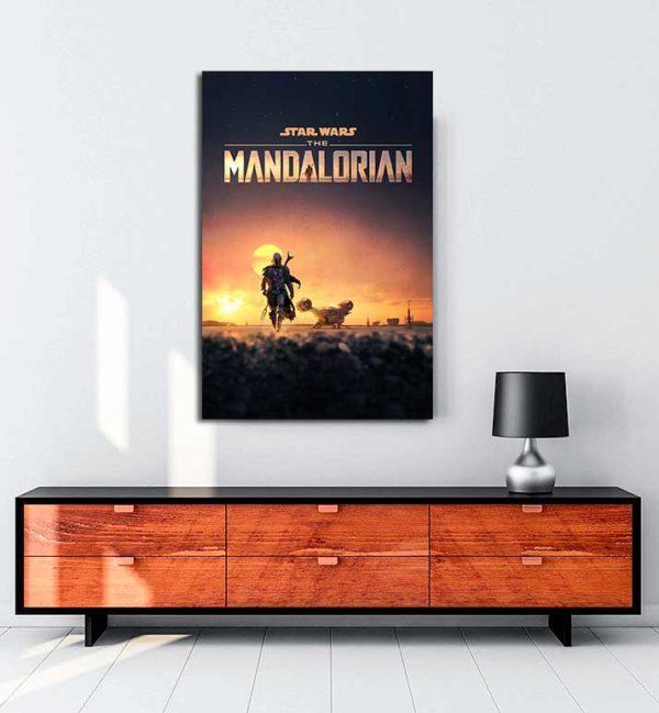 The Mandalorian kanvas tablo