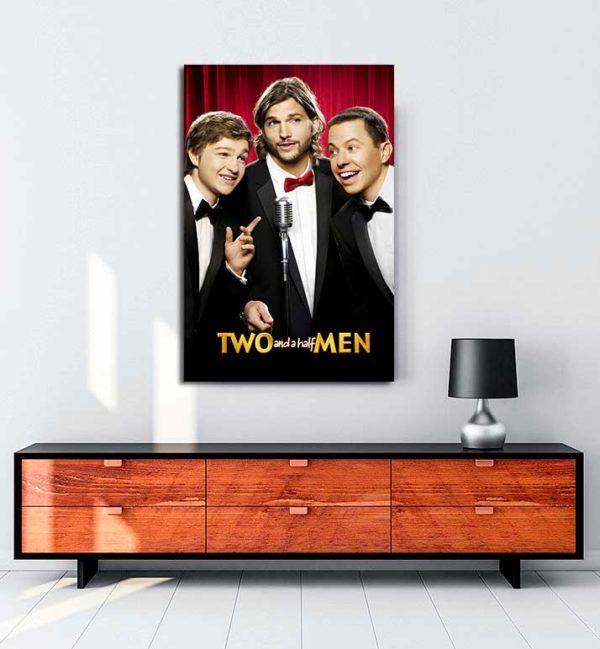 Two and a Half Men kanvas tablo
