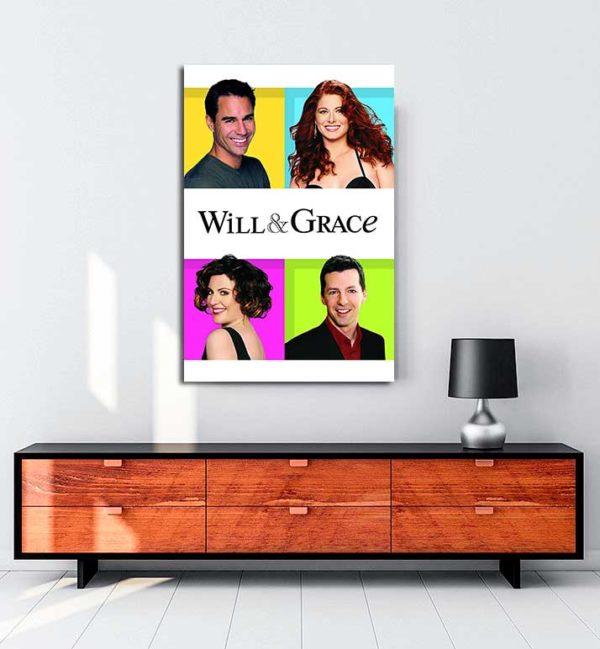 Will & Grace kanvas tablo