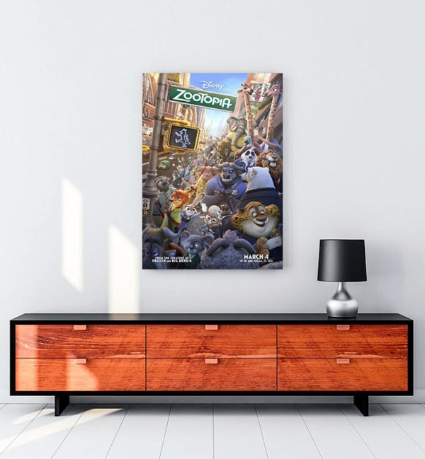 Zootopia kanvas tablo