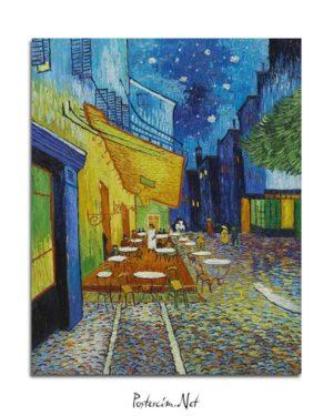 Vincent van Gogh - Arsel'de Gece Kahvesi posteri