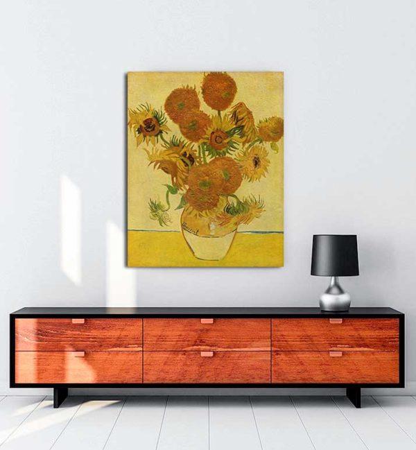 Vincent van Gogh - Bir Vazoda On Beş Çiçek kanvas tablo