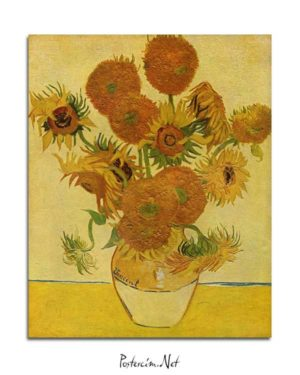 Vincent van Gogh - Bir Vazoda On Beş Çiçek posteri