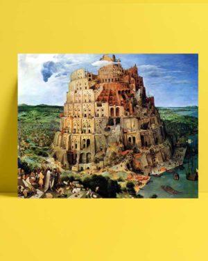 Pieter Brueghel - Babil Kulesi afişi
