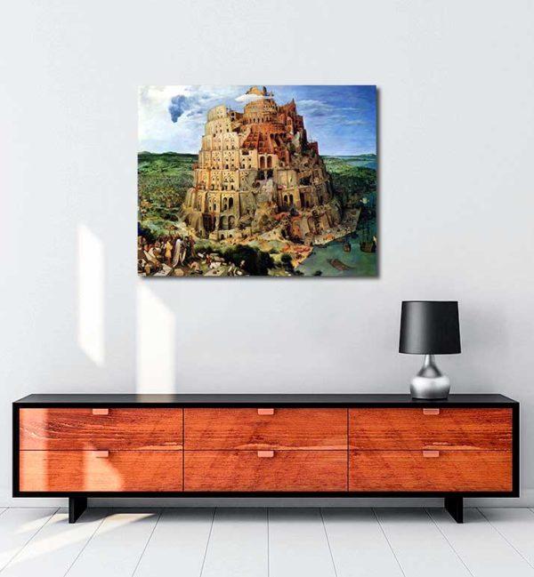 Pieter Brueghel - Babil Kulesi kanvas tablo