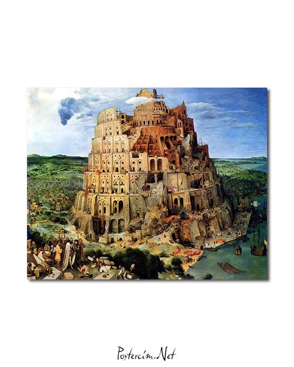 Pieter Brueghel - Babil Kulesi posteri