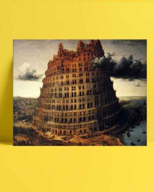 Pieter Brueghel - Babil'in Küçük Kulesi afişi