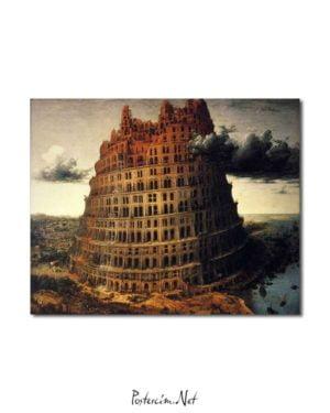 Pieter Brueghel - Babil'in Küçük Kulesi posteri