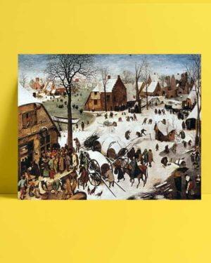 Pieter Brueghel - Bethlehem'de Nüfus Sayımı afişi