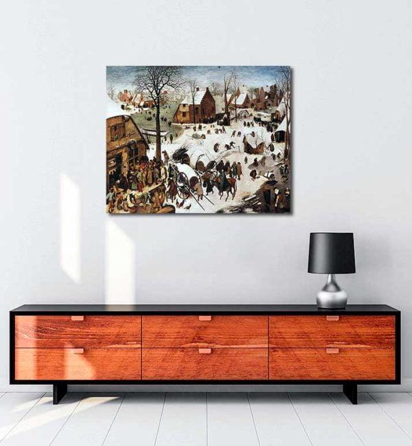 Pieter Brueghel - Bethlehem'de Nüfus Sayımı kanvas tablo