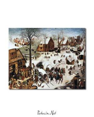 Pieter Brueghel - Bethlehem'de Nüfus Sayımı posteri
