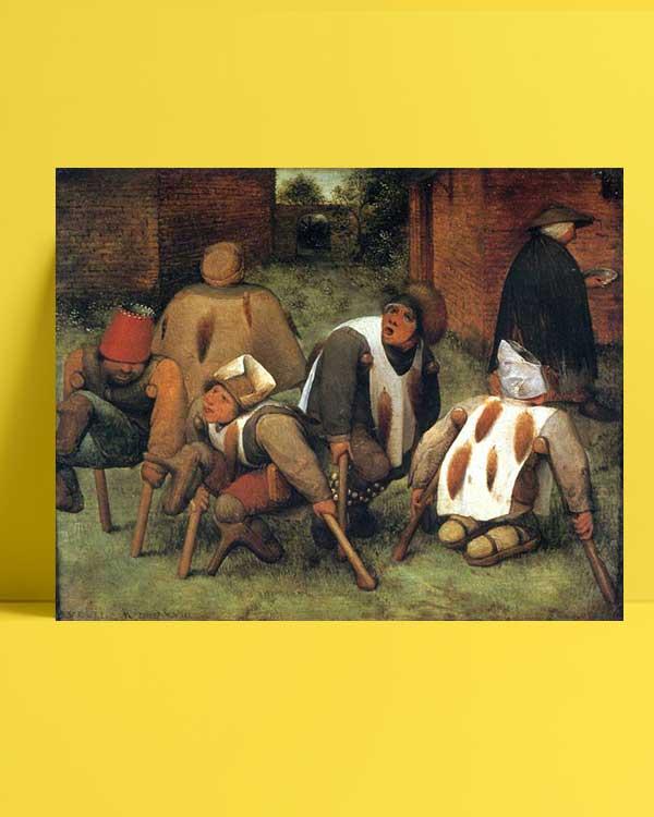 Pieter Brueghel - Dilenciler afişi