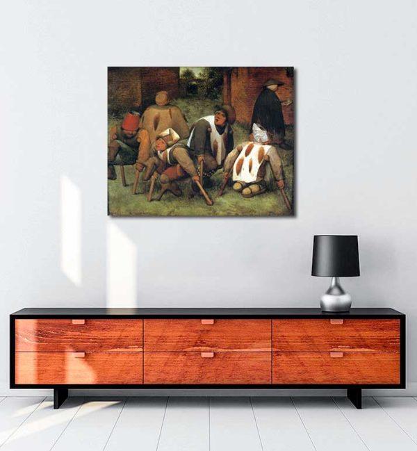 Pieter Brueghel - Dilenciler kanvas tablo