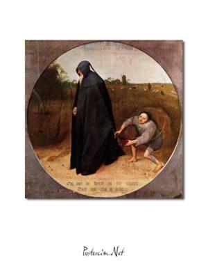 Pieter Brueghel - İnsanları Sevmeyen posteri