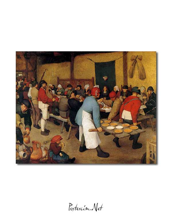 Pieter Brueghel - Köy Düğünü posteri