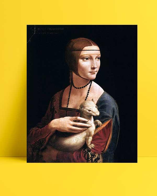 Leonardo Da Vinci - Erminli Kadın, Cecilia Gallerani afişi